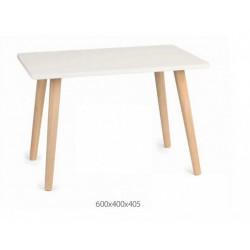 Tavolino bicolor legno e bianco. CM 60x40 H 40.5