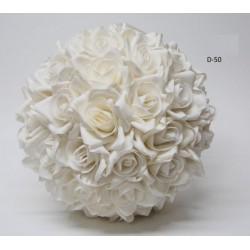 Sfera fiori lattice da appendere. Diam. 40