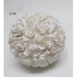 Sfera fiori lattice da appendere. Diam. 24