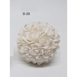Sfera fiori lattice da appendere. Diam. 18