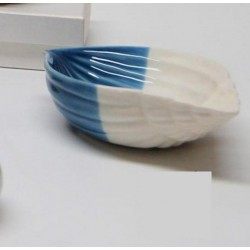 Ciotola ceramica bicolor con scatola. CM 15x10 H 4