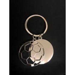 Portachiave doppio pallone da calcio in metallo. CM 8