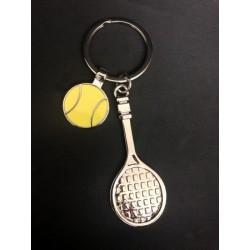 Portachiavi metallo racchetta tennis e pallina. CM 9