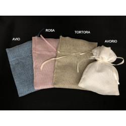 Sacchetto con tirante tessuto misto cotone. CM 14x18