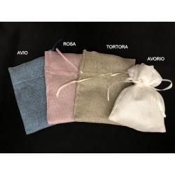 Sacchetto con tirante tessuto misto cotone. CM 10x14