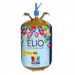 Bombola elio 60 bar da 13,6 litri, gonfiaggio di circa 100 palloncini.