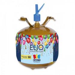 Bombola elio 60 bar da 6,9 litri, gonfiaggio di circa 50 palloncini.