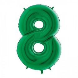 Palloncini mylar gonfiabili ad elio, numero OTTO colore VERDE. CM 102