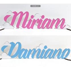 Scritta in legno colorato personalizzato. Colore e scritta a scelta. Lunghezza MAX 40 CM H 15