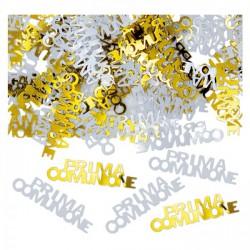 Set 15 GR coriandoli, soggetto comunione in plastica decorativi.