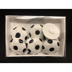 Set 8 pallone in resina da applicazione. Diam. 3