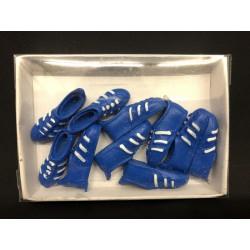 Set 10 scarpe da calcio in resina da applicazione. CM 3.5