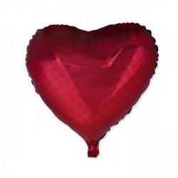 Palloncino mylar cuore rosso olografico, idoneo per gonfiaggio ad elio. CM 60