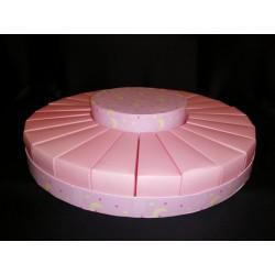 Torta da 24 fette cartoncino con centrale rosa