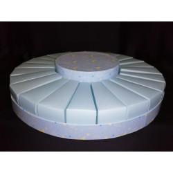 Torta da 24 fette cartoncino con centrale azzurro