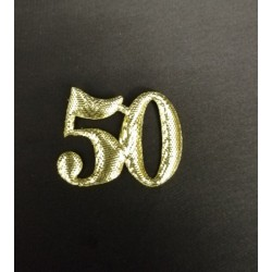 Set 24 pz numero 50 in stoffa laminata. CM 3x3