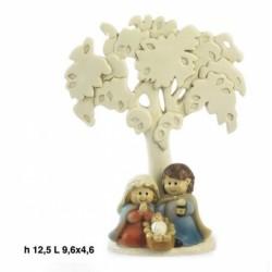 Nativita' spiritosa con albero in resina. H 13