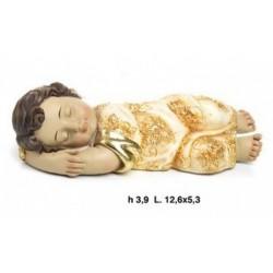 Gesu' bambino dormiente in resina. CM 13x6 H 4