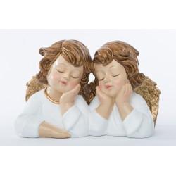 Coppia angeli in resina. CM 24x13 H 15