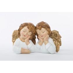 Coppia angeli in resina. CM 19x11 H 11