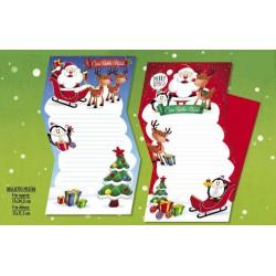 Letterina Babbo Natale e busta rossa. Ass 2. CM 12x17