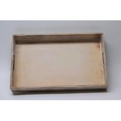 Vassoio legno con manico. CM 44x27 H 6