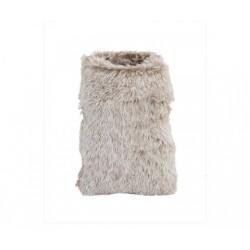 Sacco eco pelliccia bianco.  CM 12x17