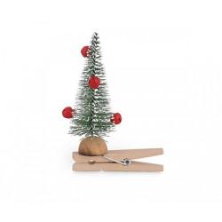 Set 6 mollette legno con albero. CM 6x10.5