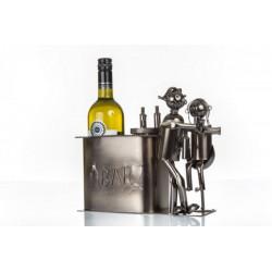 Portabottiglia latta coppia al bancone del bar LUNGA CM 30  LARG CM 14