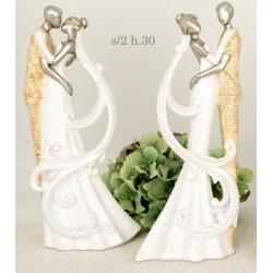 Sposi stilizzati in resina. Ass 2. H 30
