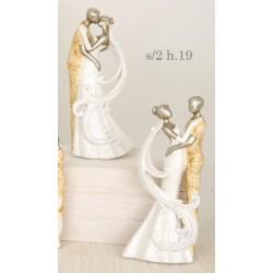 Sposi stilizzati in resina. Ass 2. H 19