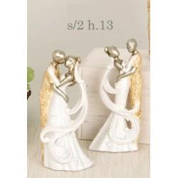 Sposi stilizzati in resina. Ass 2. H 13