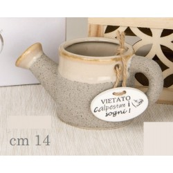 Porta piante forma annaffiatoio in ceramica. CM 14