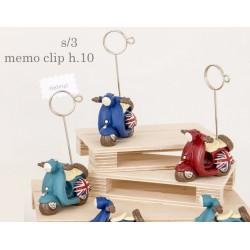 Vespa resina con memo clip. Ass 3. H 10