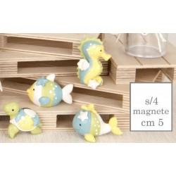 Magnete in resina con animali marini. Ass 4. CM 5