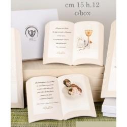 Libro resina con preghiera e immagine sacra tipo dipinto con scatola. CM 15x12