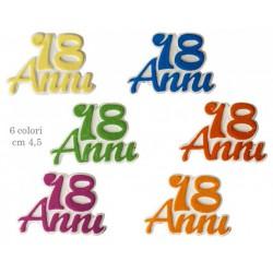 Gesso 18˚ compleanno colorato. Ass 6 CM 4,5