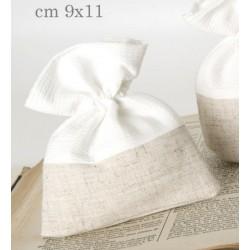 Sacche doppio tessuto con tirante. CM 9x11
