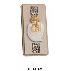 Quadretto con Sacra Famiglia in legno. H 14