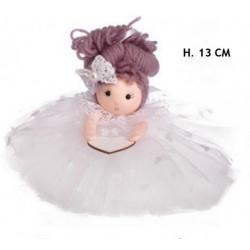 Bambola con gonna pon pon. H 13