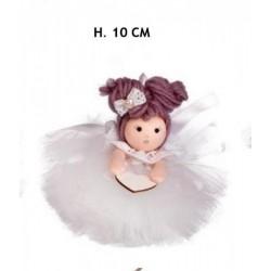 Bambola con gonna pon pon. H 10