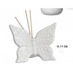 Profumatore ceramica forma farfalla. H 11