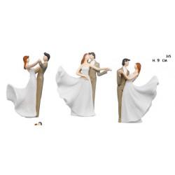 Coppia sposi in resina ballerini. Ass 3. H 9