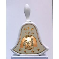 Campana ceramica e legno con luce LED. H 17