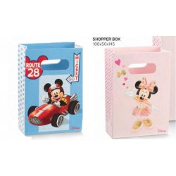 Shopper cartoncino con decoro MIckey Mouse e Minnie. CM 10x5 H 14.5