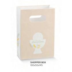 Shopper cartoncino con decoro comunione. CM 10x5 H 14.5
