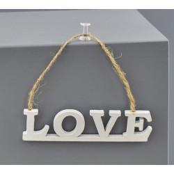 Set 6 appendini in legno con scritta LOVE. CM 9.5x2.5
