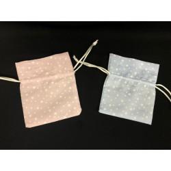 Sacchetto tessuto con stampa stelline. CM 10x9