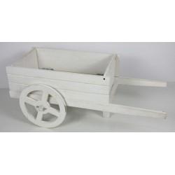 Carretto legno bianco. CM 61x28 H 25