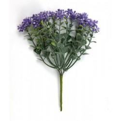 Mazzo 6 fiore glicine. H 17